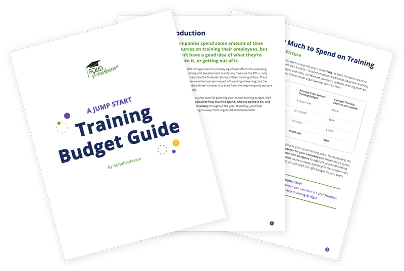 training budget guide cover