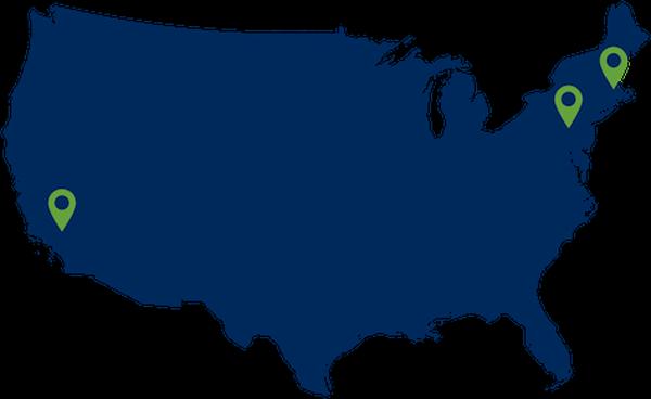 Map of GENTEX locations